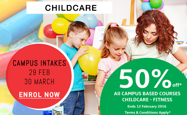 Childcare Campus-based Courses Promo